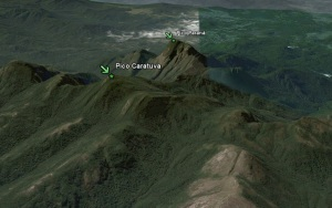 Pico Caratuva and Pico Paraná on Google Earth