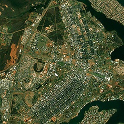 Brasília from above, aerial shot
