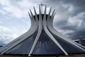 Brasília Cathedral on a stormy day, photo by Ben Tavener