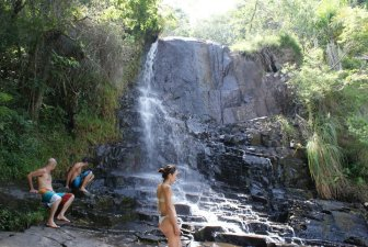 "One of Florianópolis island's many ""cachoeiras"" (waterfalls) - perfect for a dip, photo by Ben Tavener"