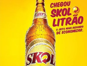 One-litre bottle of Skol