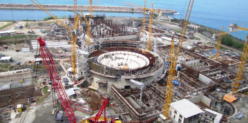 Angra III Nuclear Reactor under construction, photo by MinPlanPAC/FCCL.
