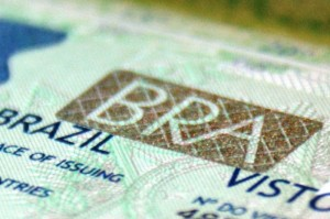 Brazilian visa. Photo by Ben Tavener.