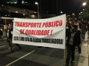 Even though the rise in bus and metro fares has been reversed in most cities, the Free Fare Movement (MPL) says it will continue its fight until quality public transport is delivered. Photo by Ben Tavener.
