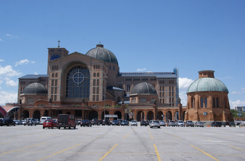 The Basilica of the National Shrine of Our Lady of Aparecida is the holiest site for Brazilian Catholics.