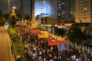 13 March 2014 - World Cup Protest in São Paulo, Brazil - Photo by Ben Tavener