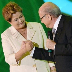 Brazilian President Rousseff and FIFA President Sepp Blatter. Photo by AFP.