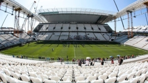 Arena São Paulo, Corinthians, Itaquerão Stadium. Sao Paulo's Corinthians Arena stadium will host the opening match of Brazil's World Cup as planned, says FIFA president. Photo: AFP/Miguel Schincariol.