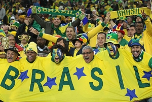 Brazil World Cup fans. Photo from travelblog.org