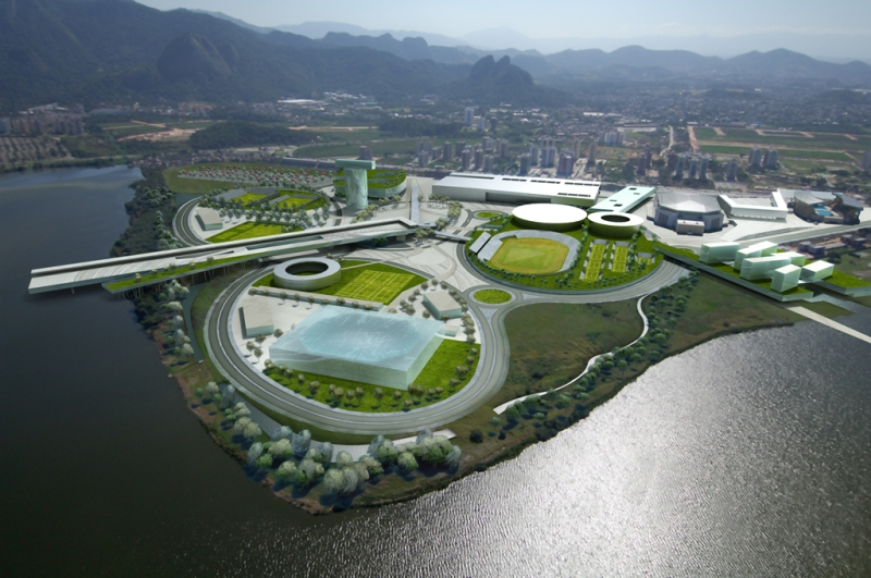 The planned Olympic Village in Rio's Barra da Tijuca