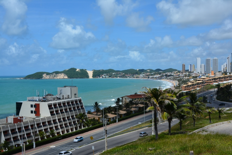 The classic view across the Ponta Negra area of Natal. Photo by Ben Tavener