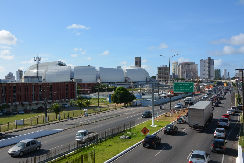 Natal's World Cup Stadium - the Arena das Dunas. Photo by Ben Tavener.
