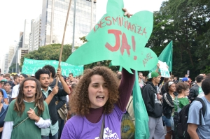 São Paulo Marcha da Maconha - Marijuana March. 26 April 2014. Photo by Ben Tavener