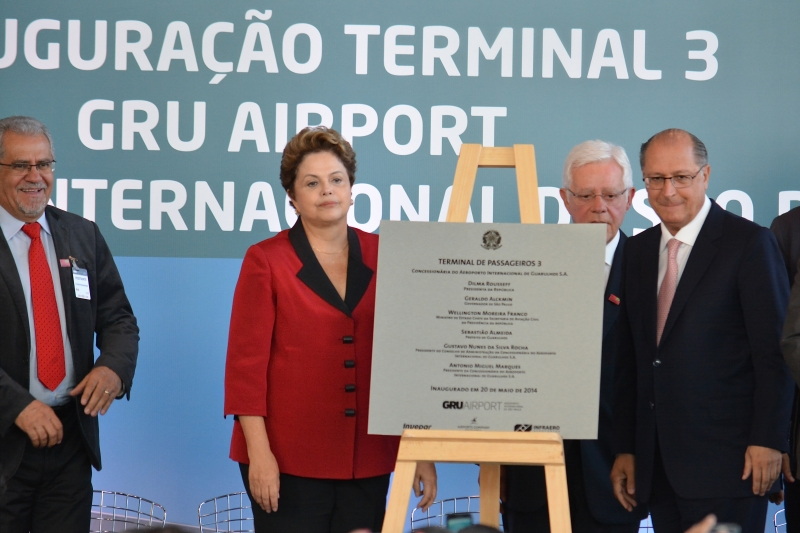 Brazil's Rousseff opens new São Paulo airport terminal. Photo by Ben Tavener